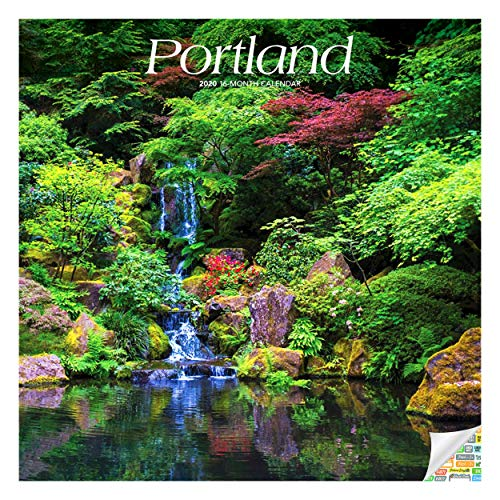 Portland Calendar 2020 Portland Oregon Wall Calendar Bundle with Over 100 Calendar Stickers