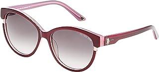 رابطة بولو الأمريكية. نظارات شمس للنساء بيضاوية - 753 56-16-135ملم