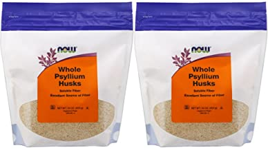 NOW Foods Psyllium Husks Whole, 16 Ounce, Pack of 2 (Package May Vary)