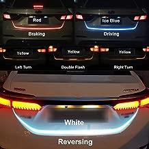 EASY4BUY Streamer Brake Turn Signal Flow LED Strip Trunk Light (Triple Color) for Universal Car Model