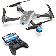 Drones with Camera for Adults – 120° Wide-Angle 720P HD Camera, Beginner Friendly, RTF One Key...