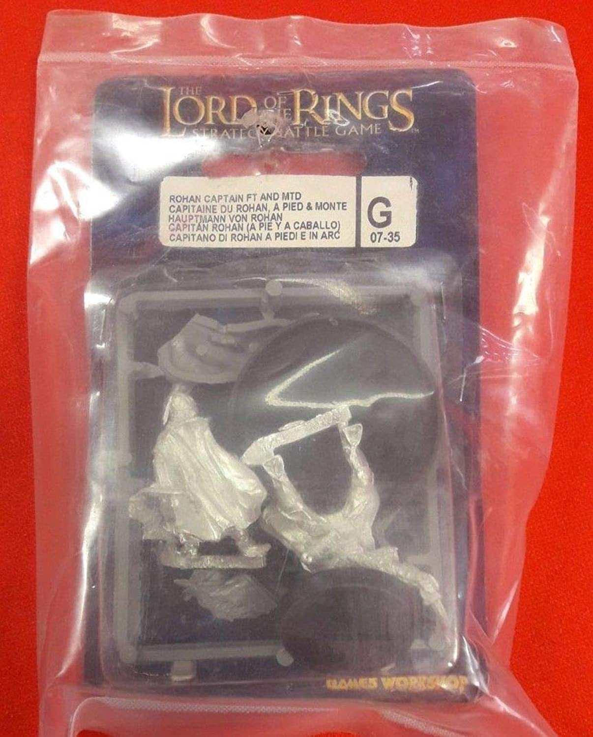 Games Workshop Lord Of The Rings Rohan Captain Foot & Mounted Blister Pack