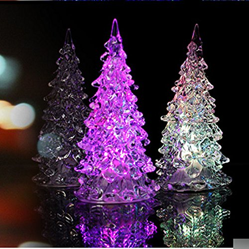 Huayang Conception Cristal Arbre de Noël Coloré LED Décoration Sapin Noël