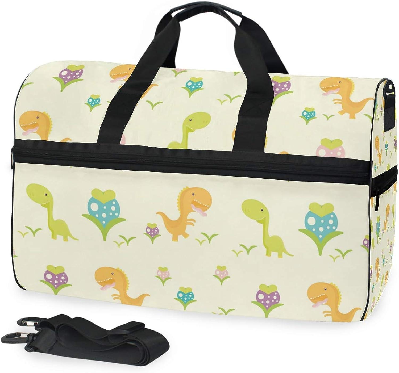 e658d4e5bb7c DEZIRO 45L Travel Duffel Bag Floral Pattern Large Weekender Bag with ...