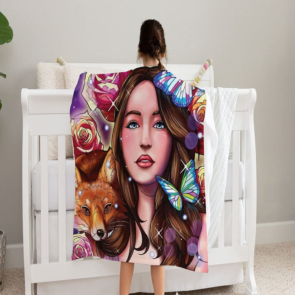 Washington Mall GANTEE Girl Wolf Surrounded Limited time trial price Flowers Blanket Butterflies Super S