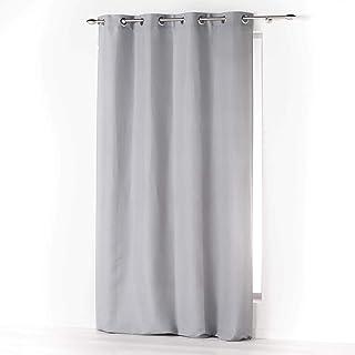 douceur d'intérieur Absolu Rideau a Oeillets 140 x 260 cm Microfibre Unie ABSOLU Polyester, Gris