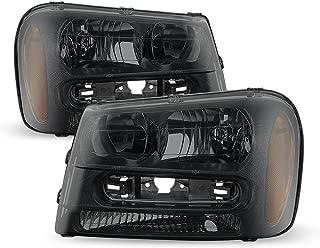 ACANII - For [Exclusive Dark Smoke] 2002-2009 Chevy Trailblazer Headlights Headlamps 02-09 Driver + Passenger Side