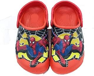 ROKIDS Kids Spiderman Light Up Beach Shoes Boys Sandals Slippers