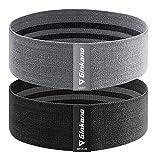 haquno elastici fitness (2 pezzi), elastiche fitness in tessuto con 2 livelli di resistenza,per esercizi glutei, yoga, pilates, palestra(grigio nero)