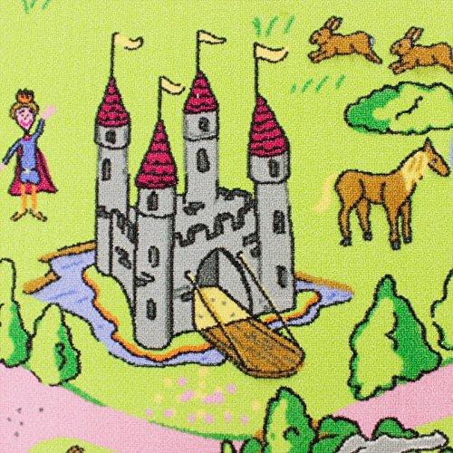 HEVO Märchenland Mädchen Teppich | Spielteppich | Kinderteppich 145x200 cm Oeko-Tex 100