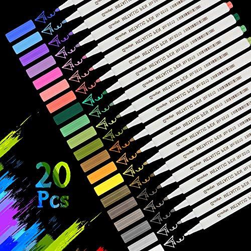 Molbory Acrylstifte Marker Stifte, Stifte 20 Farben Metallic Marker Paint Pens Premium Metallischen...