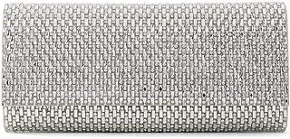 Aldo Women's Clutch Bag with Rhinestones Detail, Montelibretti in Silver