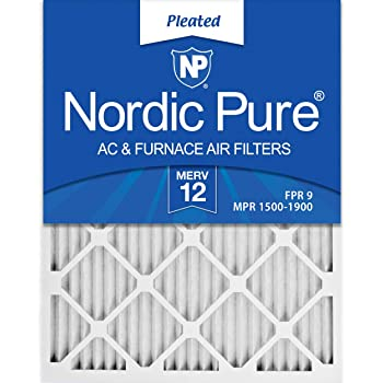 Nordic Pure 20x21/_1//2x1 Exact MERV 12 Pleated AC Furnace Air Filters 2 Pack