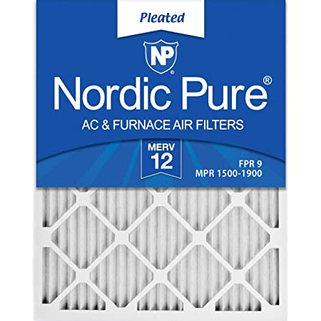 Nordic Pure 16x30x1 MERV 12 Pleated AC Furnace Air Filters 2 Pack