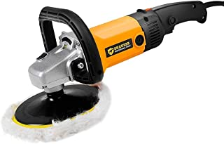 "Goplus 7"" Electric Car Polisher Variable 6-Speed Buffer & Sander w/Bonnet Pad (Yellow)"