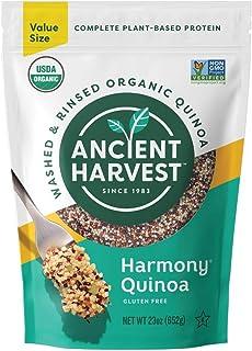 Ancient Harvest Pre-Rinsed Organic Quinoa, Harmony Tri-Color, 23 oz