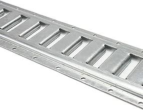 8 Foot Horizontal E Track Rails for Interior Van Trailer Tie Downs | Galvanized 12 Gauge Steel | 2 Pack