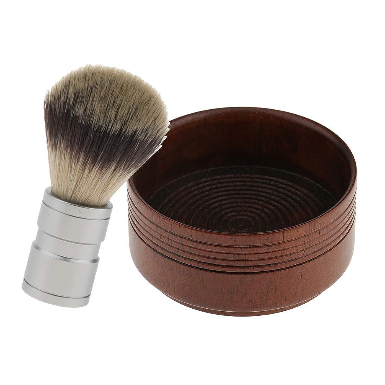 五ステレオ心理学D DOLITY シェービングブラシ シェービングボウル メンズ用 理容 洗顔 髭剃り 理髪店、美容院、家庭