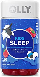 Olly Kids Sleep Gummies Supplement with Melatonin & L-theanine Chamomile (110 Gummies)