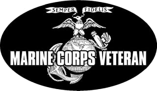 MFX Design Marine Corps Veteran Bumper Sticker Decal Toolbox Sticker Decal Lunch Box Hard Hat Sticker Decal Vinyl - Made in USA rand New Approximately 4.5 in. x 3 in.