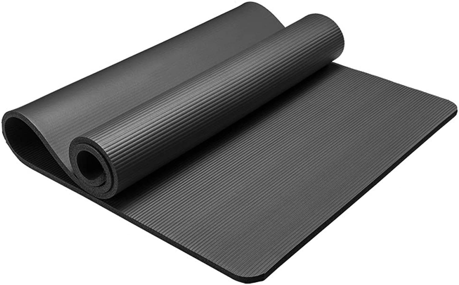 Fgtree Large Space Safe Comfortable High Rebound Yoga Mat, Home Beginners Men Women Yoga Fitness Dance Mats, Non-Slip Tear Resistant Easy to Clean Yoga Mat