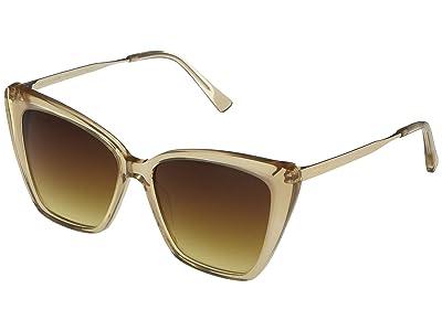 DIFF Eyewear Becky II (Vintage Crystal/Brown) Fashion Sunglasses