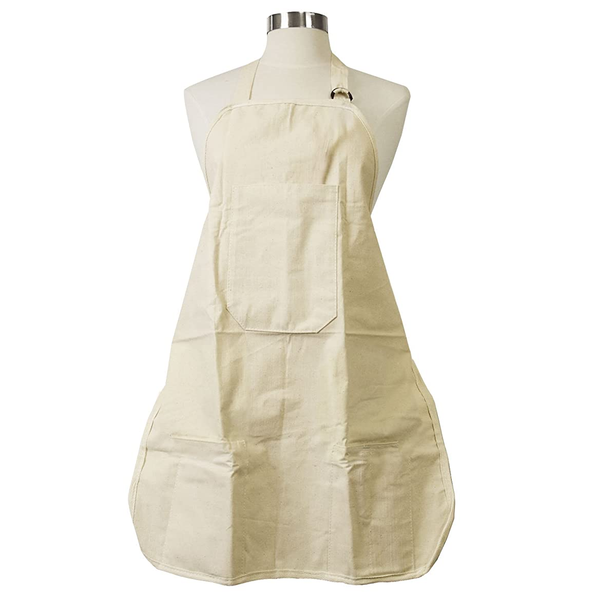US Art Supply Large Canvas Adjustable Artist Apron - Size: 27
