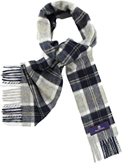 Prince of Scots Heritage Plaid Fringed Merino Wool Scarf