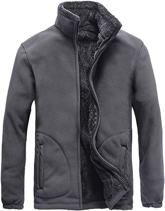 Men S Winter Coat Sale Casual Comfort Long Sleeve Solid Fleece Thicken Windproof Jacket