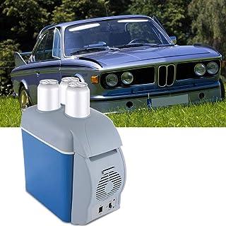 Nannday Mini Nevera para Coche, 7.5L 12V Nevera para Acampar en casa Caja de enfriamiento eléctrica Enfriador Calentador Viaje Caja portátil Congelador para camión de Viaje, Dormitorio, Oficina