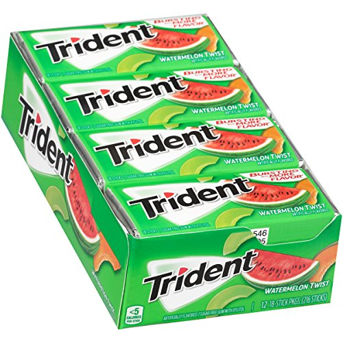 Trident Watermelon Twist Sugar Free Chewing Gum 18 Stick Pack American