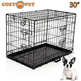 Cozy Pet Dog Cage 30' Black Metal Tray Folding Puppy Crate Cat Carrier Dog Crate DC30B. (We do not ship to Northern Ireland, Scottish Highlands & Islands, Channel Islands, IOM or IOW.)