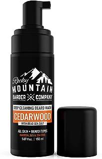 Foaming Cedarwood Beard Wash– Shampoo And Condition Your Beard With Real Essential Oils, Vitamin B5 & Dead Sea Salt – Para...