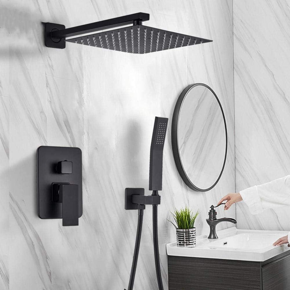 Wieoc Matte Black Shower Latest item Faucets Set Rainfall List price Faucet Wall