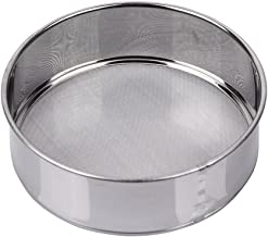 AMPSEVEN 6 Inch Small Tamis Sieve Flour Stainless Steel 40 Mesh Round Sifter for Baking Straining Tool(40m Mesh)