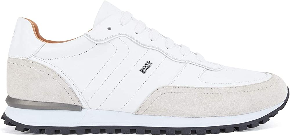 Boss parkour-l_runn_ltsd, scarpe sneakers per uomo, in vera pelle 50452041