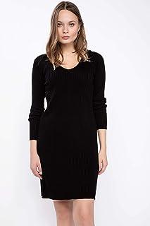 DeFacto V Yaka Basic Triko Elbise