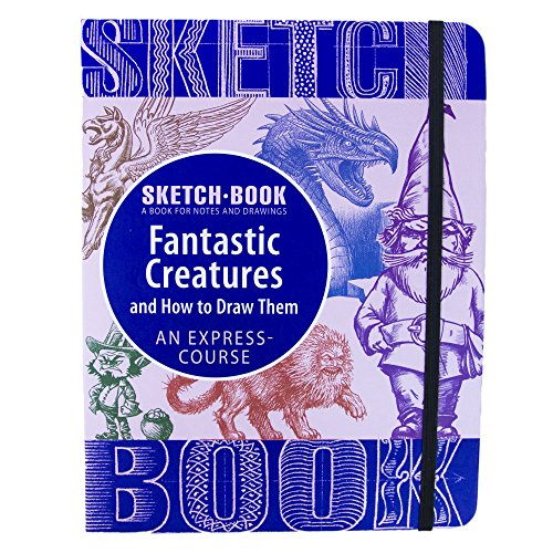 """Sketch Book - Spiral Bound Sketchpad with Drawing Paper - How to Draw Fantastic Creatures Drawing Book - 70 Sheets, 140 Pages, 8.3""""x 5.8"""" (Small)"""