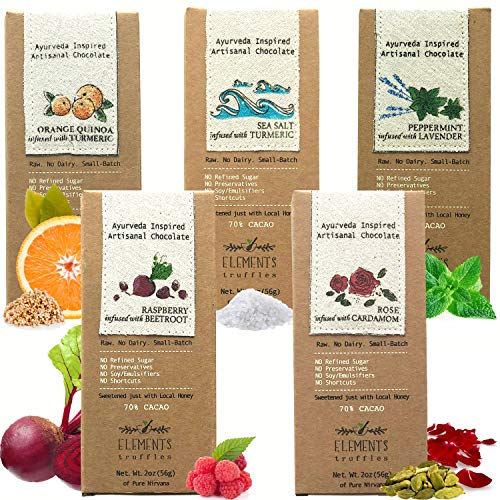 Elements Truffles Sampler Pack - Dairy Free Chocolate Bar - Gluten Free,...