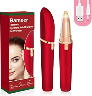 [2020 Newest] Eyebrow Hair Remover, Electric Eyebrow Trimmer Epilator for Women, Portable Painless Eyebrow Razor with Ligh...