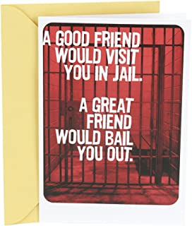 Hallmark Shoebox Birthday Card for Friend (Friend In Jail)