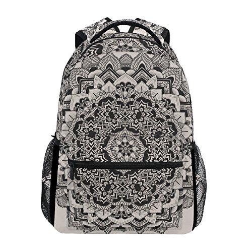 TIZORAX Mochila étnica hippie Mandala escolar bolsa de senderismo de viaje