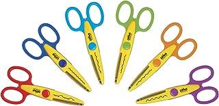 School Smart 85067 Paper Edger Scissors - Set of 6 - Assorted Colors