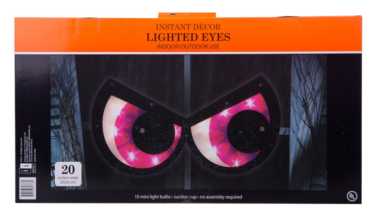 Halloween Spooky Eyes Suction Window Decoration Purple