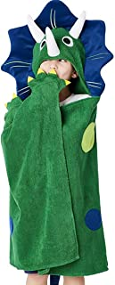 Dinosaur Hooded Beach Towel - Toddler/Kids Bath Towels with Hood - Soft, Fast Drying & Comforting for Boys, Large 47