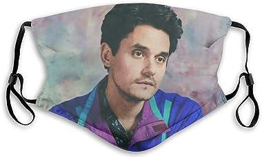 dgffgf Reusable Bandana Windproof Headband Dustproof Scarves,John Mayer Mouth Adjustable Straps Unisex Face M Black