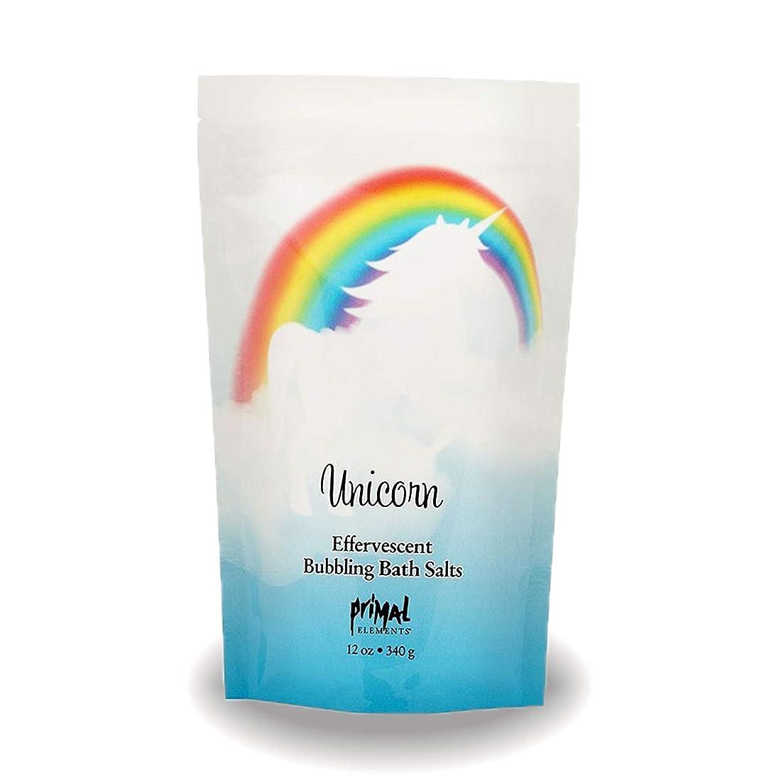 広がりメロンホームプライモールエレメンツ バブリング バスソルト/ユニコーン 340g エプソムソルト含有 アロマの香りがひろがる泡立つ入浴剤
