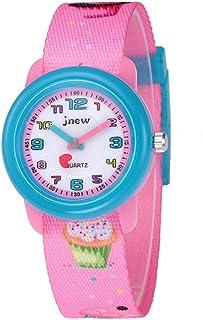 Kinderhorloge cartoon horloge waterdicht lint stijl cartoon quartz horloge (roze)