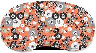Zebra Blossoms Orange - Sleeping Mask - Sleeping Mask