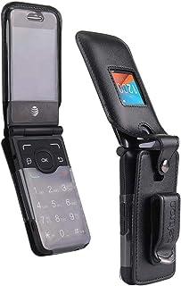 Fitted Leather Case for Alcatel One Touch Go Flip 4044 (Boost, Metro PCS, Sprint, T-Mobile, Virgin Mobile) Go Flip V (Veri...